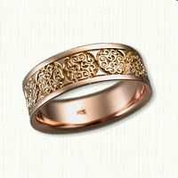 Rose Gold Brentford Knot Wedding Band - Available In All Metals and Sizes Celtic Wedding Rings, Wedding Bands, Brentford, Precious Metals, Rose Gold Jewelry, Rose Gold Plates, Engagement Rings, Silver, Script