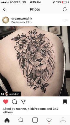 Back tattoo idea - tatoo feminina Leo Tattoos, Bild Tattoos, Henna Tattoos, Arrow Tattoos, Body Art Tattoos, Feather Tattoos, Tattoo Art, Realism Tattoo, Tattos