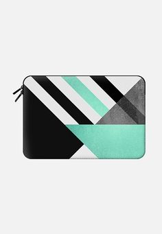 Foldings / Turquoise Geometry by Elisabeth Fredriksson Macbook Air 13 sleeve by Elisabeth Fredriksson | Casetify