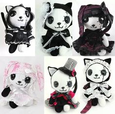 NAOTO Gothic Lolita dresses and shopping accessories from Tokyo Japan. Kawaii Plush, Cute Plush, Kawaii Goth, Gothic Dolls, Gothic Lolita, Plush Dolls, Doll Toys, Jugend Mode Outfits, Cute Stuffed Animals