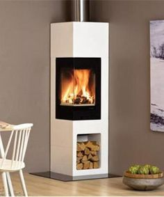Vrijstaande kachels Nordpeis Odense Pellet Stove, Odense, Great Rooms, New Homes, Stairs, Wood, Interior, Kitchen, Home Decor