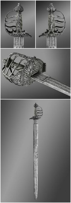 Espada de caballería que fue de Oliver Cromwell - Inglaterra - C 1650 - Philadelphia Museum of Art