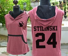 STILINSKI 24 STEREK TEEN WOLF CRIMSON GREY TSHIRT HOODIE SLEEVELESS