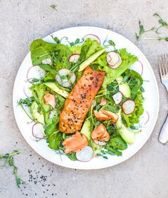 Ginger Salmon Salad - The Little Green Spoon