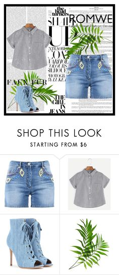 """""""romwe"""" by lu-cyyyyyyyyyy ❤ liked on Polyvore featuring Moschino, Gianvito Rossi and Oris"""
