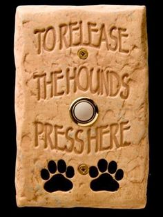DogBellz -- Handmade, Hand-painted, Made-in-the-USA Dog Doorbells - eclectic - products - miami - DM Decos by Design, Inc. - If we ever replace our doorbell - we need this :-) I Love Dogs, Puppy Love, Design Fonte, Petit Basset Griffon Vendeen, Mans Best Friend, Dog Life, Pet Grooming, Fur Babies, Dog Cat