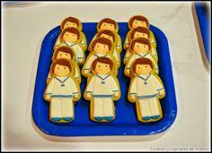 Cookies y cupcakes de Huesca: Mesa dulce para la comunión de Christian