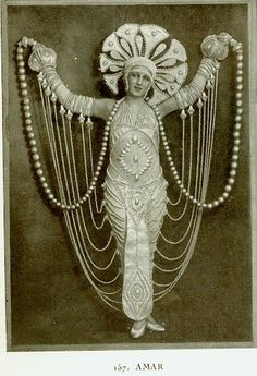 La Revue des Folies Bergere, 1924.  Erte  Can I do this for my next performance? Pleeeeeaaaase??? :D
