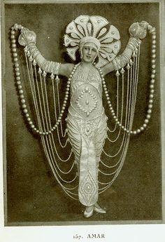 La Revue des Folies Bergere, 1924. Erte  Can I do this for my next performance? Pleeeeeaaaase??? :D