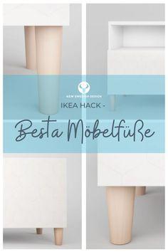 Mit verschiedenen Möbelfüßen für dein Ikea Besta Regal zum stylischen Sideboard. Die robusten Möbelfüße aus transparent lackiertem Buchenholz heben dein Besta optisch einfach mal auf eine neue Ebene. Und das ohne viel Aufwand, denn die Montage der Möbelbeine ist denkbar einfach. Die Besta Möbelfüße gibt es in drei verschiedenen Designs, sowie in jeweils zwei unterschiedlichen Höhen. Man kann also zwischen sechs verschiedenen Möbelf