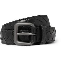 Bottega Veneta Slim Intrecciato Woven-Leather Belt | MR PORTER