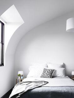 #whiteplace Black&white bedroom