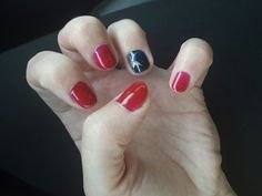4th of july nails! Ruby ritz, midnight swim, and ice vapor shellac. All patriotic colors!