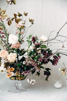 We love the use of carnations in Nicole Land's (of Soil & Stem) arrangement - beautiful for any season, now featured on Cottage Hill