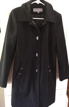 Coat New Anne Klein Women's Black Light Weight Long Sleeve Size PS or Teen  | eBay
