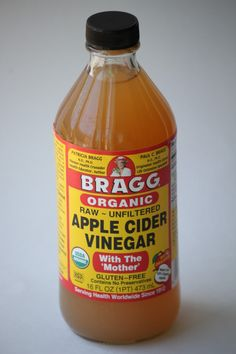 raw apple cider vinegar 4 tablespoons mixed with water daily