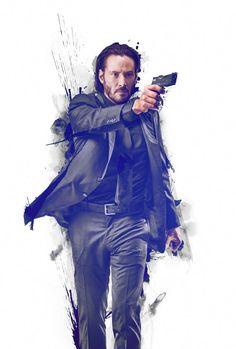 John Wick Keanu Reeves  Poster Key Art  V1 by JosephsWallArt