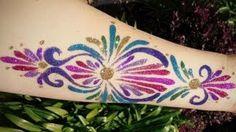 Glitter Tattoo - Freehand!, via YouTube.