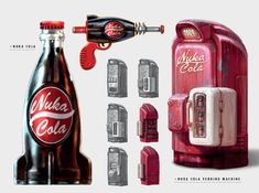 Nuka Cola Vending Machine concept art via The Art of Fallout 4