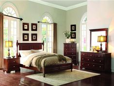 Homelegance 1356C-9 Morelle Collection Color Cherry