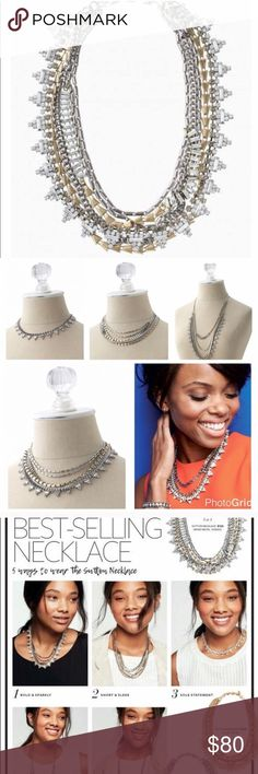 """NWT Stella and Dot Sutton necklace 5 ways to wear this best selling necklace from Stella and Dot ! 17.75 inches when worn short and 32"""" when worn long . Mixed metal plating . New in box Stella & Dot Jewelry Necklaces"""