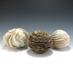 Judi Tavill Ceramics Three Small Organic Sculpture Forms in Neutral Earth by jtceramics, $280.00 judi tavill