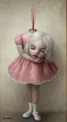 Shades of Mark Ryden, here's Loretta Lux. And speaking of Mark Ryden. Mark Ryden, Salvador Dali, Creepy Art, Weird Art, Strange Art, Arte Horror, Horror Art, Illustrations, Illustration Art