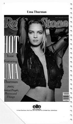 The Model Archives of Marlowe Press   Elite Personalities (New York)1990 Uma Thurman