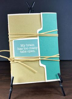 Adorable handmade book created with a center tab file folder. Tutorial included. #clubscrap