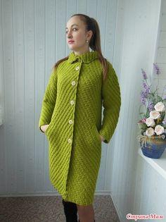 Knitted Coat Pattern, Knit Cardigan Pattern, Crochet Cardigan, Black Crochet Dress, Crochet Coat, Crochet Clothes, Cardigans Crochet, Coat Patterns, Sweater Coats