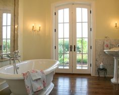 French Country Bath Natural Bathroom