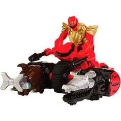 Power Rangers Ultra Red Ranger Action Figure and Zord Vehicle Play Set