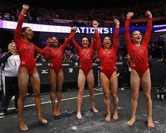 US women roll to 3rd straight world gymnastics title
