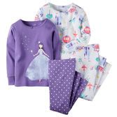 Note: To help keep children safe, cotton pjs should always fit snugly. She'll dream of horse-drawn carriages and magical nights in these princess pjs.<br>