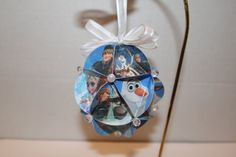 Disney Frozen Christmas ornament by blossomsandbows1 on Etsy, $5.00