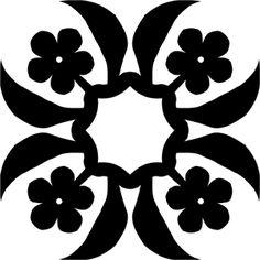 Hawaiian Quilt Tile 11 Hawaiian Quilt Patterns, Hawaiian Pattern, Hawaiian Quilts, Quilt Stitching, Applique Quilts, Hawaiian Designs, Quilted Wall Hangings, Barn Quilts, Quilt Tutorials