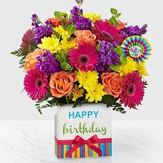 Reasons Why Ftd Flowers For Birthday Is Getting More Popular In The Past Decade Ftd Flowers For Birthday Happy Birthday Flowers Images, Happy Birthday Bouquet, Happy Birthday Wishes Cards, Happy Birthday Gifts, Happy 40th, Free Birthday, Birthday Bash, Birthday Flower Delivery, Same Day Flower Delivery