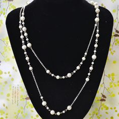 Latest Pearl Necklace Design- How to Make Long Layered Bead Necklace with Chain