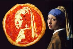 The Girl with the Pearl Earring, Pizza-styled (by Domenico Crolla) via @Shawn O O Rossi