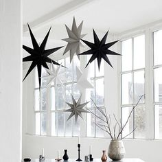 Credit: /PR Idyll Home paper star decorationTight on table space? Create an eye-catching centrepiece above the table ...