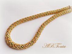 Жгут Из Бисера Колье  (Czech glass pearls necklace)