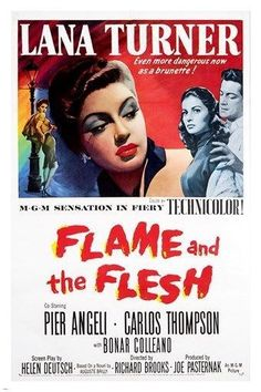 1954 the FLAME and the FLESH vintage movie poster LANA TURNER singer 24X36 Brand New. 24x36 inches. Will ship in a tube. - Multiple item purchases are combined the next day and get a discount for dome