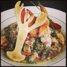 Delicious lobster risotto! #DigbyPines #Lobster #Risotto #NovaScotia #Vacation #Cuisine