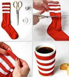 DIY Sock coffee sleeve