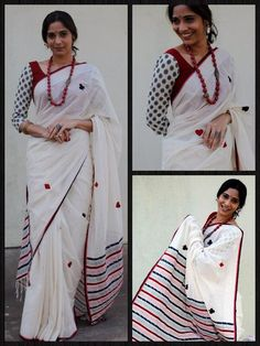Cards on a saree.