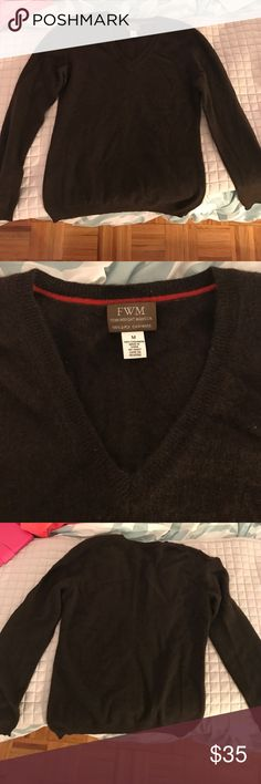 Brown cashmere sweater Previously worn but in great condition . 100% 2-ply cashmere fenn wright manson Sweaters Crew & Scoop Necks