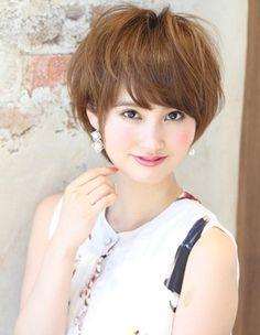耳かけボブパーマ髪型(kE-259) | ヘアカタログ・髪型・ヘアスタイル|AFLOAT(アフロート)表参道・銀座・名古屋の美容室・美容院