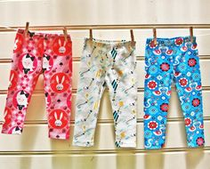 Children's Leggings sewing pattern sizes 1 - 12 years, for boys and girls.