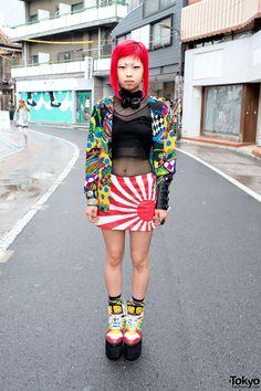 Red Hair, Piercings, Jeremy Scott Platforms, Devilish & Iron Fist in Harajuku - Tokyo Fashion News