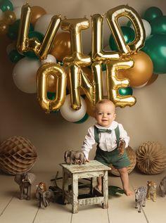 Boys First Birthday Party Ideas, Jungle Theme Birthday, Wild One Birthday Party, Baby Boy First Birthday, Dinosaur Birthday Party, Boy Birthday Parties, Birthday Pins, Safari Party, Jungle Party